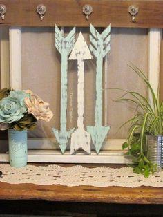 Wood Arrow Wall Decor, Handmade Arrows, Rustic Arrow Decor, Farmhouse Wall…