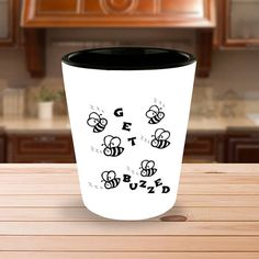 Funny Shot Glasses Gift Get Buzzed with Little Buzzing Bees