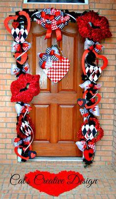 Valentines Door Décor@  Cat's Holiday & Home Decor