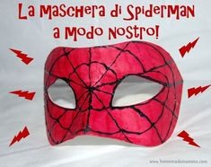 maschera spiderman fai da te Spiderman Art, Arts And Crafts, My Arts, Crafty, Superhero, Halloween, Kids, Fictional Characters, Hairstyle