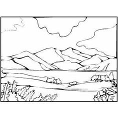 free mountain lion coloring pages mountain and lake coloring page - Mountain Coloring Pages Printable