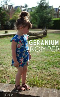 Geranium Romper at Our Family Four