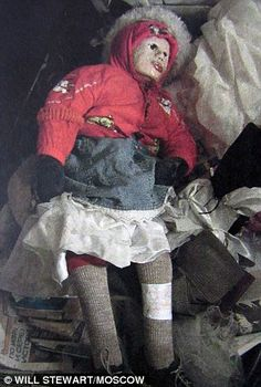Olga Chardymova was just ten when she was murdered but Anatoly Moskwin then removed her body from a hole in the coffin and turned her into a mummy