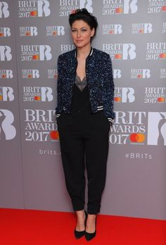Emma Willis Plays It Cool In Sequin Bomber Jacket