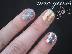 Silver dots! Kind she mentioned discontinued, but keep eyes out. 3 Glitzy Looks for New Year's: Mani Monday