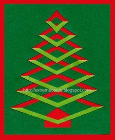 incire christmas tree card