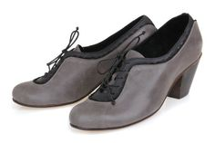 Grey And Black Leather Shoes / Women High Heels Shoes / Lacing Shoes / Evening Shoes / Every Day Shoes / Claasic Casual Shoes  - Marquis on Etsy, $139.00