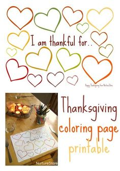 Thanksgiving coloring/writing page printable - great for kids, classes, or as a placemat on the Thanksgiving table. Love!