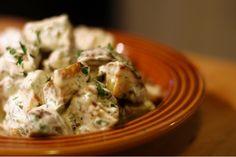 Garlic Roasted Potato Salad Roasted Potato Salads, Garlic Roasted Potatoes, Gluten Free, Favorite Recipes, Meat, Chicken, Ethnic Recipes, Food, Glutenfree