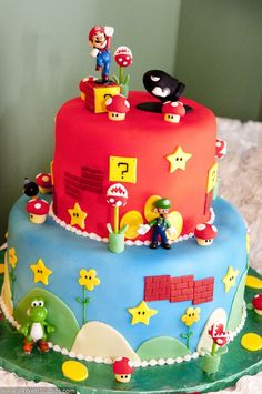 Super Mario Bros Nintendo groom's cake!!!!    Plantation Preserve Weddings | Sara & David in Plantation Florida by 84 West Studios | 84 WEST STUDIOS South Florida Weddings