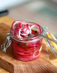 If you were to peek into my refrigerator any day of the week, any season of the year, you would surely find a jar of pickled red onions