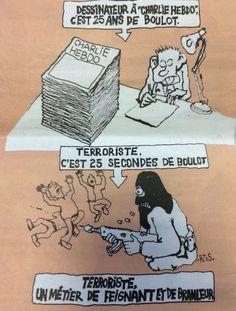 Terroriste et extrémiste, des métiers de branleur ! #JeSuisCharlie