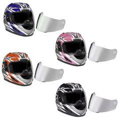 8c4a5fc8ec3c Raider Full Face Motorcycle Helmet Street Bike Helmet DOT w Extra Mirrored  Lens  Raider