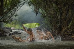 Children playing in the river,Thailand. by Venusvi on 500px
