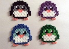 Retro Perler Bead Penguins by SkellieBeads on Etsy, $3.00