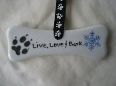 Dog bone Christmas ornament w snowflake 4 by PorcelainChinaArt, $9.50