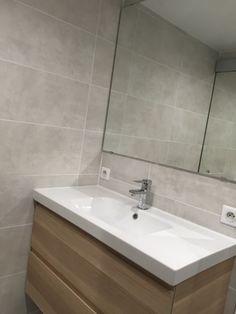 Meuble vasque 1m Ikea couleur chêne blanchie