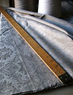Linen Damask Fabric  FRENCHstyle pattern  for by LinenGifts,