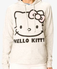 Heathered Hello Kitty® Hoodie | FOREVER21 - 2037806405