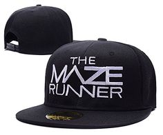 The Maze Runner Logo Adjustable Snapback Embroidery Hats Caps - Black/White The Maze Runner Hats http://www.amazon.com/dp/B016KD7CC4/ref=cm_sw_r_pi_dp_sCUMwb0Q1ENYW