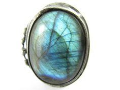 alcyone  large labradorite ring by callistojewelry on Etsy