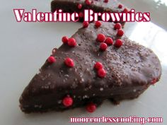 Valentine Brownies~ Moore or Less Cooking.com
