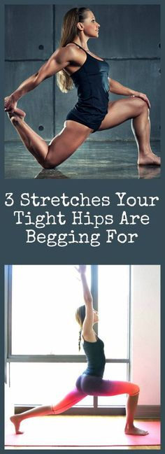 Want to reduce lower back-pain and want better mobility? It is all in the hips. You must read this right now, 3 Stretches Your Tight Hi. Hip Flexor Exercises, Hip Stretches, Back Pain Exercises, Pnf Stretching, Lower Back Pain Stretches, Stability Exercises, Yoga Exercises, Yoga Fitness, Health Fitness