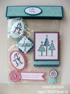 Polar Party Card Candy | Sara's crafting and stamping studio