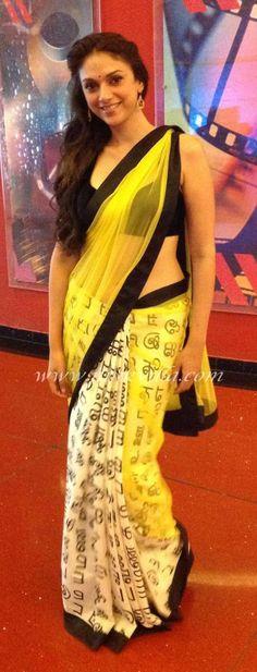 Aditi Rao Hydari in Yellow Masaba Saree | PINKVILLA