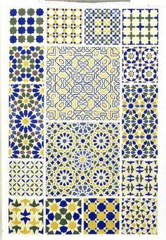 Owen Jones, 'Original drawing for The Grammar of Ornament (Moresque No. Owen Jones, 'Original drawing for Beautiful mosaic patterns - The Grammar of Ornament (Moresque No. Geometric Patterns, Tile Patterns, Geometric Art, Pattern Art, Textures Patterns, Zentangle Patterns, Islamic Art Pattern, Arabic Pattern, Textile Design