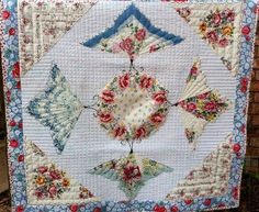 Handkerchiefs Made into Quilts | Our Products >> Butterfly Hankie Quilt