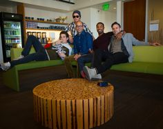 The cast of That Awkward Moment visits Twitter HQ (@twoffice). Michael B. Jordan (@michaelb4jordan), Miles Teller (@Miles_Teller) and Zac Efron  ~   Copyright Aaron Durand for Twitter, Inc. ~   January 14, 2014