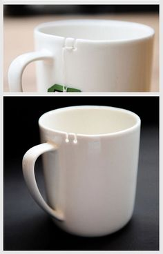 In December, George Lee will begin selling his Tea Tie mug that lets you tie up your tea bag as it's steeping.