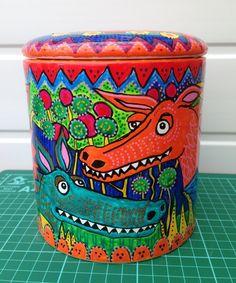 Handpainted Dragon Biscuit Storage Jar £40.00
