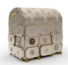 Luxury Safes present you Boca do Lobo's Private Collection with three stunning luxury safes. Jewelry Case, Jewelry Stores, Jewelry Box, Leather Jewelry, Gold Jewellery, Silver Jewelry, Design Furniture, Luxury Furniture, Bedroom Furniture