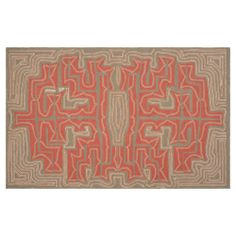 5' x 8' Labyrinth Rug, Pecan made by Summertime Decor .