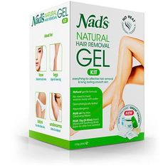 Nad's Wax Kit Gel - Wax Hair Removal For Women - Body+Face Wax - All Skin Types - At Home Waxing Kit With 6 Oz Wax Gel, Cleansing Wipes, Wooden Spatula, Re-Usable Cotton Strips, Moisture Soothing Balm How To Grow Natural Hair, Best Natural Skin Care, Natural Hair Styles, Natural Hair Removal, Wax Hair Removal, Home Waxing Kit, Best Hair Removal Products, Beauty Products
