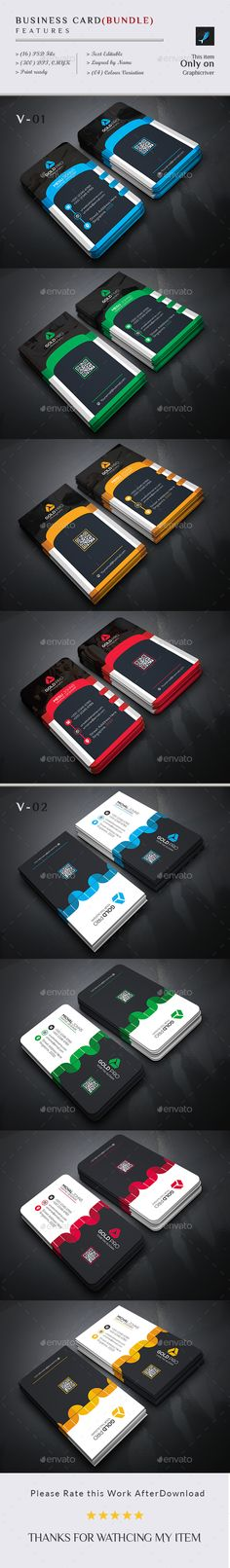 Creative Business Card Bundle (2 In 1) - Business Cards Print Templates Download here : https://graphicriver.net/item/creative-business-card-bundle-2-in-1/15507273?s_rank=146&ref=Al-fatih