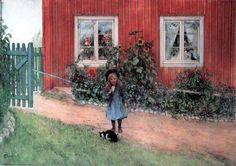 "Carl Larsson, ""Brita, Cat And A Sandwich"""