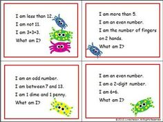 100 riddles, one for each number from one to 100. Also includes directions and materials for small group and independent activities.  $