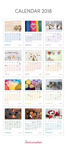 Your Year in Crocheting! FREE 2018 Calendar!