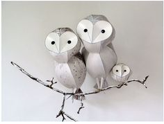 LOVE these sculptures!!!  kaperonline.com - Owls
