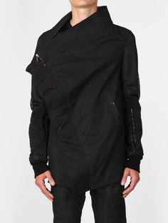 """bostonroll: """"Rick Owens spring 2014 'VICIOUS' DRKSHDW combo exploder jacket Rick's new e-shop is now online. All Black Fashion, Monochrome Fashion, Minimal Fashion, Unisex Fashion, Mens Fashion, Denim Cargo Pants, Concept Clothing, Casual Outfits, Men Casual"""