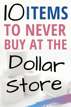 You can get some really good deals at Dollar Tree. But there are a few items that you should never buy at dollar tree because they are not a good deal. Find out the 10 things to never buy at dollar tree Frugal Living Tips, Frugal Tips, Frugal Meals, How To Get Better, How To Get Rich, Money Tips, Money Saving Tips, Make Money From Home, How To Make Money