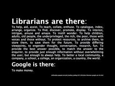 What librarians do.