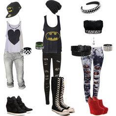 3 Scene outfits by anotherdamnliar on Polyvore featuring Wildfox, Boohoo, Citizens of Humanity, Hanky Panky, Converse, Ash, Dominic Jones, New Era, Agent Ninetynine and Core Spirit