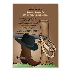 Cowboy Boot Invitation Cowboy Birthday Party, Kids Birthday Party Invitations, Birthday Party Themes, Invitation Card Design, Diy Invitations, Invite, Cowboy Theme, Western Theme, Hitching Post