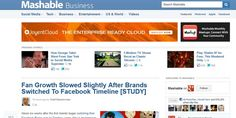 Mashable – Fan Growth Slowed Slightly After Brands Switched To Facebook Timeline [STUDY]