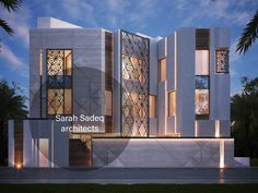 Awesome Modern House Design for Your Dream House Modern Architecture House, Islamic Architecture, Facade Architecture, Residential Building Design, Modern Villa Design, House Elevation, Home Design Decor, Facade House, Exterior Design