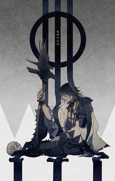 there can not be a lame Touken Ranbu pic Art Anime, Anime Kunst, Manga Art, Manga Anime, Character Sketches, Character Art, Character Design, Touken Ranbu, Fantasy